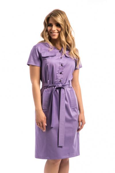 Платье из плотного хлопка, П-548